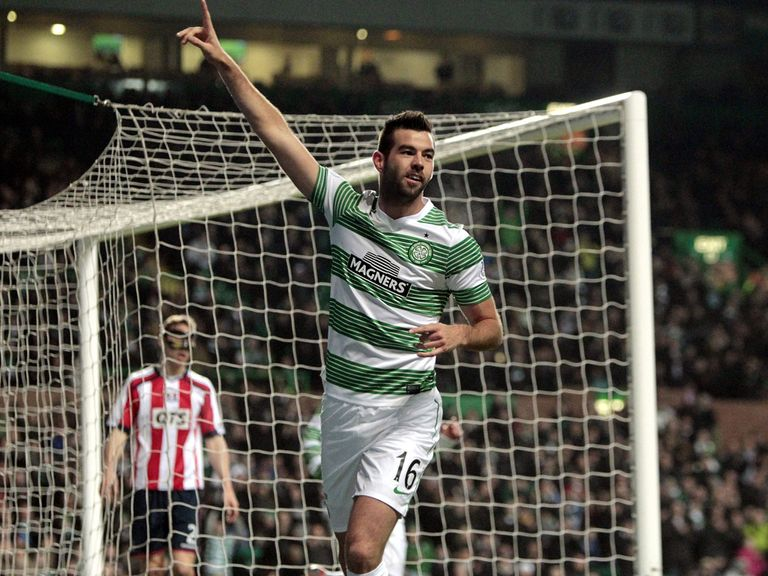 Celtic celebrate against Kilmarnock