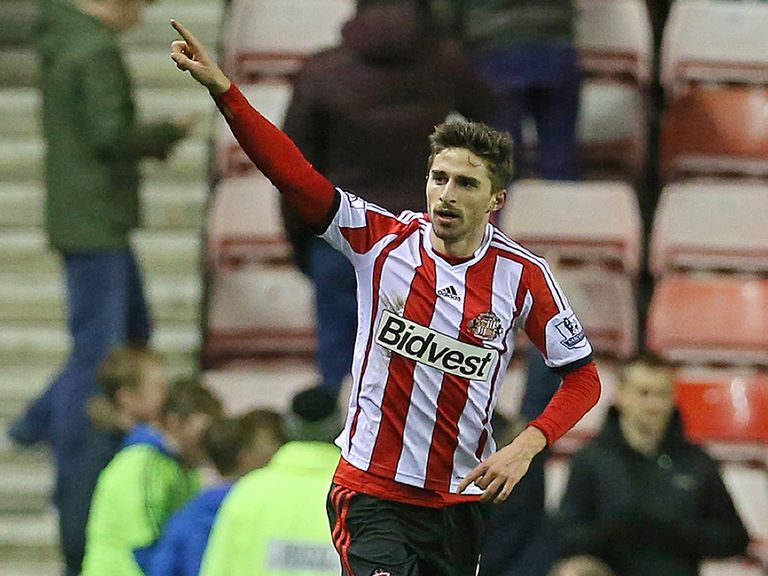 Fabio Borini celebrates his winning goal for Sunderland
