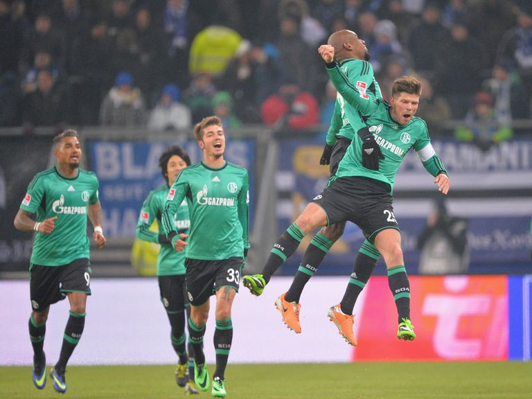 Schalke enjoy Klaas-Jan Huntelaar's goal