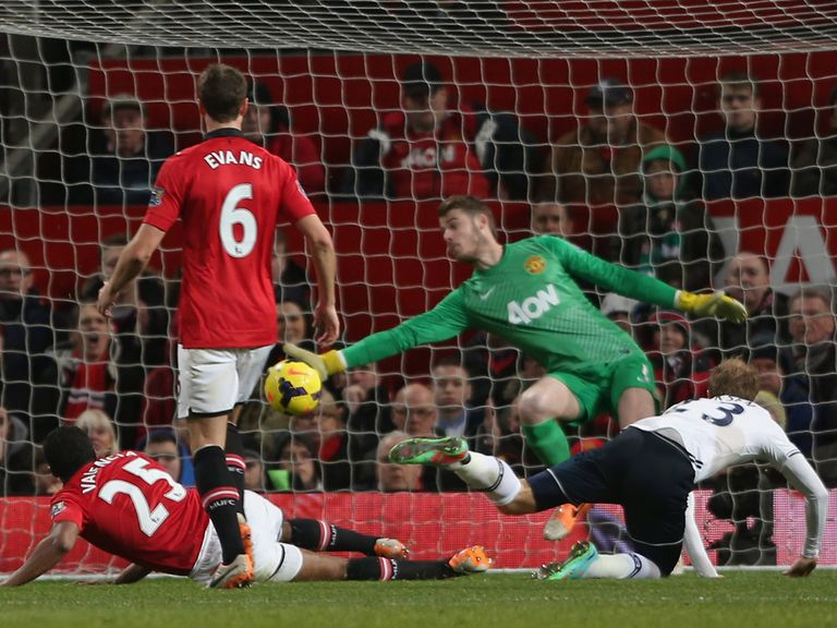 Christian Eriksen's nets Tottenham's second goal as they beat Man United 2-1.