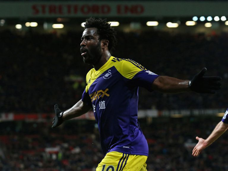 Wilfried Bony celebrates after scoring the winner