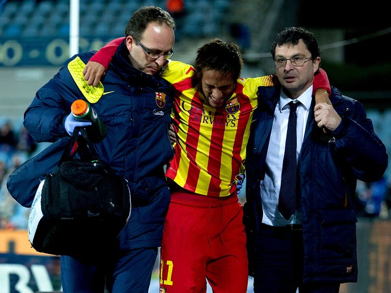 Neymar: Injury concern for Barcelona