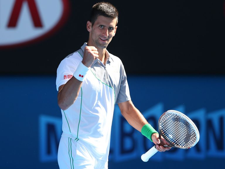 Novak Djokovic: Won in straight sets