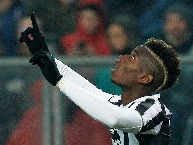 Paul Pogba: The midfielder says he is content with Juventus despite speculation