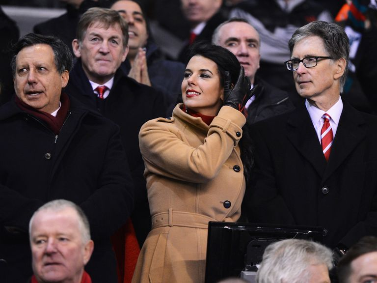 John Henry (far right): Took to Twitter over Fulham match