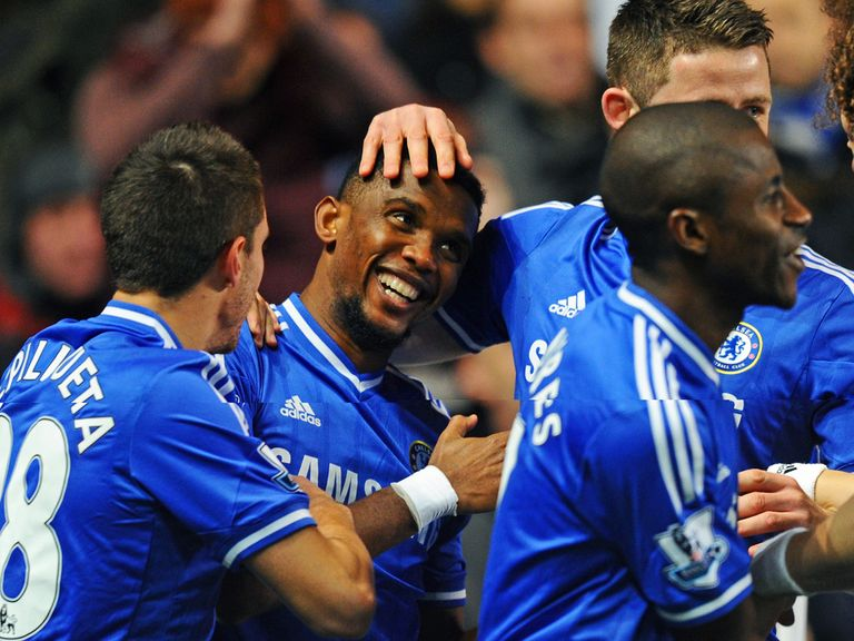 Samuel Eto'o: Thrilled with weekend hat-trick