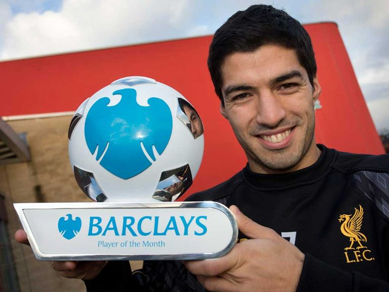Luis Suarez: Premier League player of the month for December