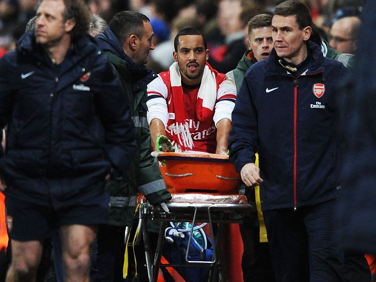 Theo Walcott: Was carried off against Tottenham