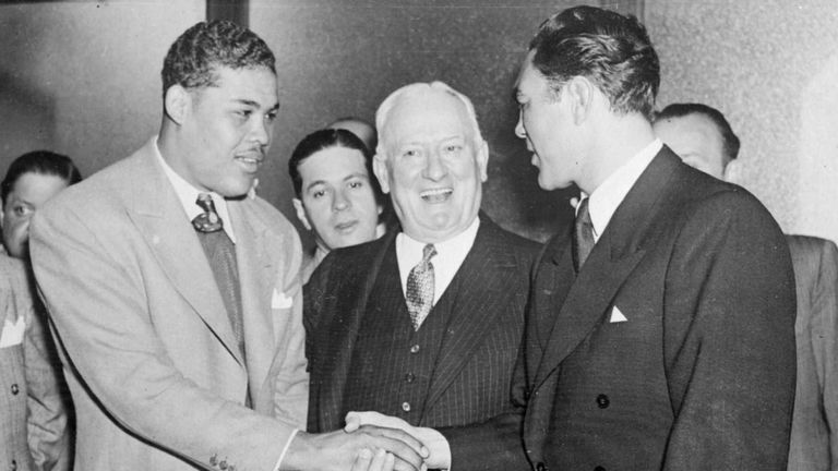 Joe Louis (L) and Max Schmelling (R) had a great rematch, says Bob Mee