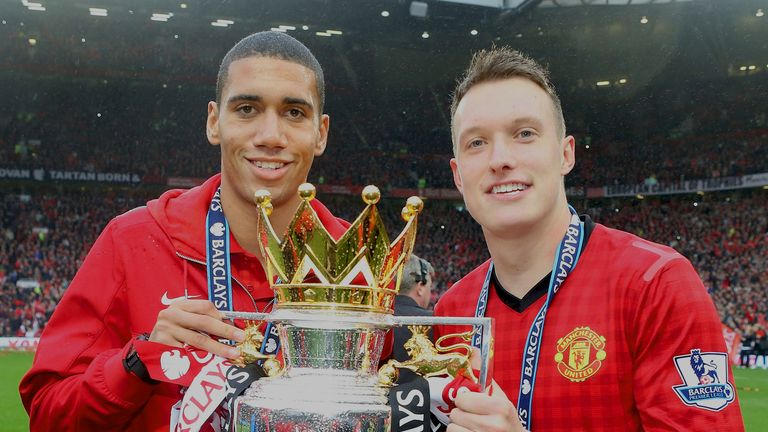 Manchester United boss David Moyes: Backing Chris Smalling and Phil Jones.