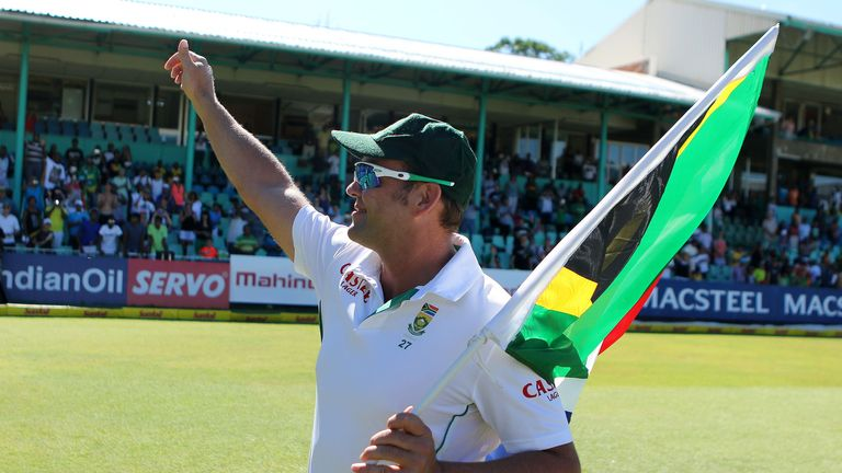 Flag bearer: Kallis was critical for South Africa, who will have a hard job replacing him
