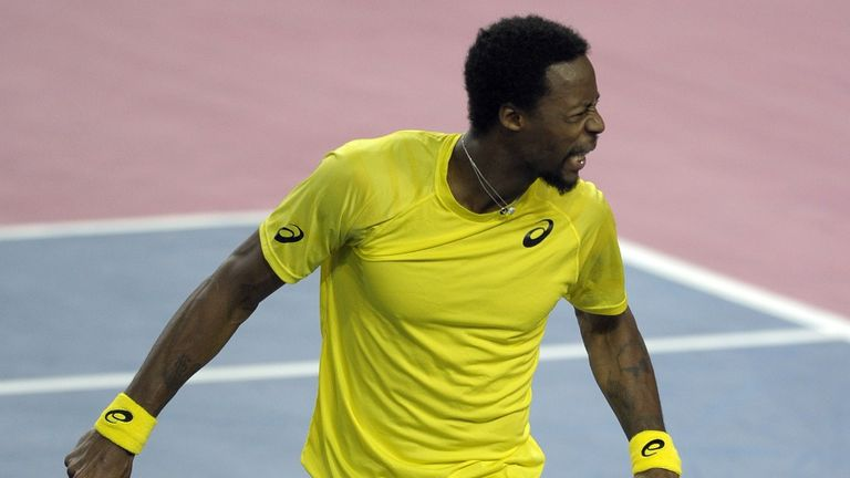 Gael Monfils: The Frenchman battled past Poland's Lukasz Kubot