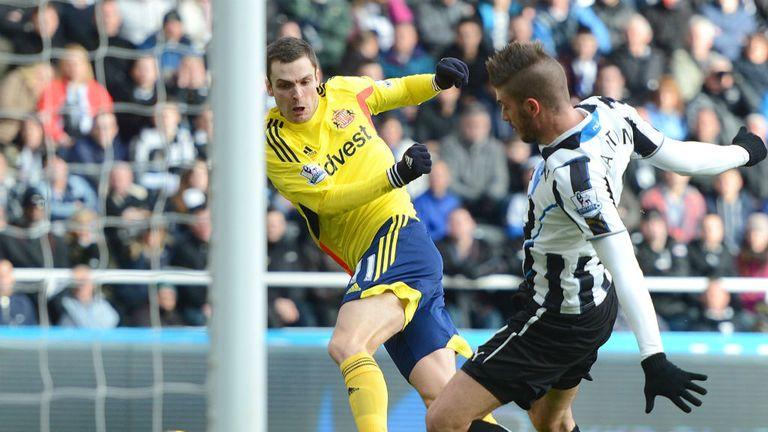 Adam Johnson: On target against Newcastle