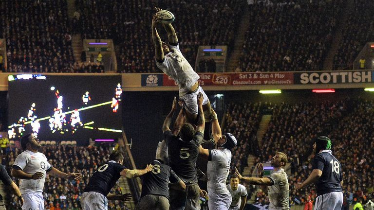 The supporter was attending the Calcutta Cup clash between Scotland and England