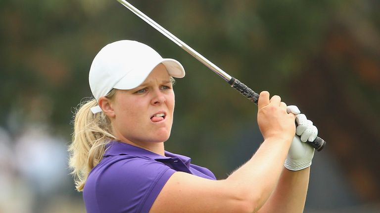 Caroline Hedwall is one clear at Victoria Golf Club