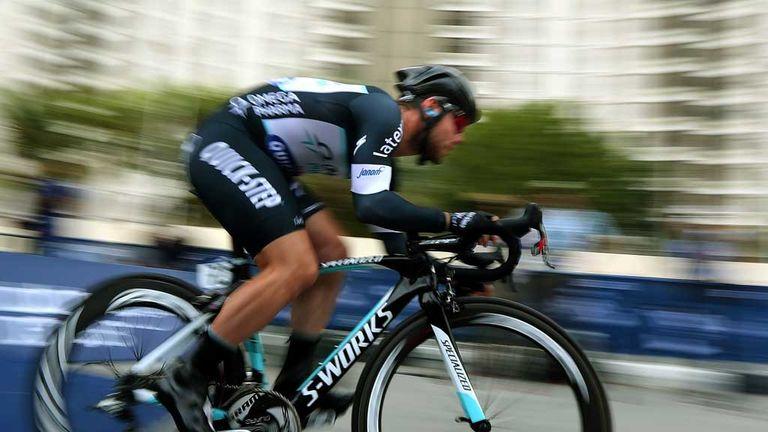 Mark Cavendish in action in Dubai