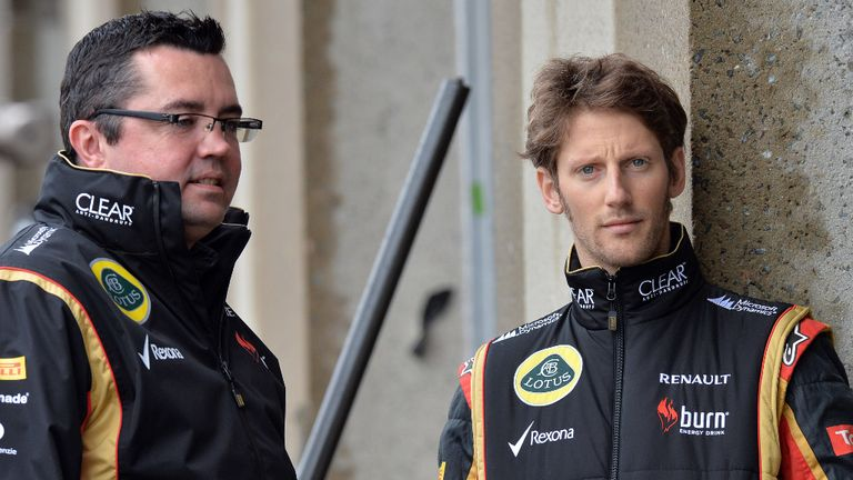 Romain Grosjean: Will appear for Lotus at Bahrain, but Eric Boullier will not