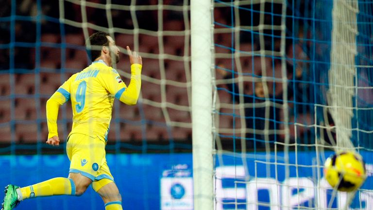Gonzalo Higuain: Sent Napoli into the lead