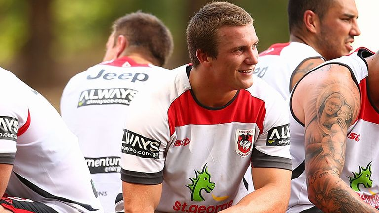 Josh Drinkwater in his St George colours before joining the Broncos