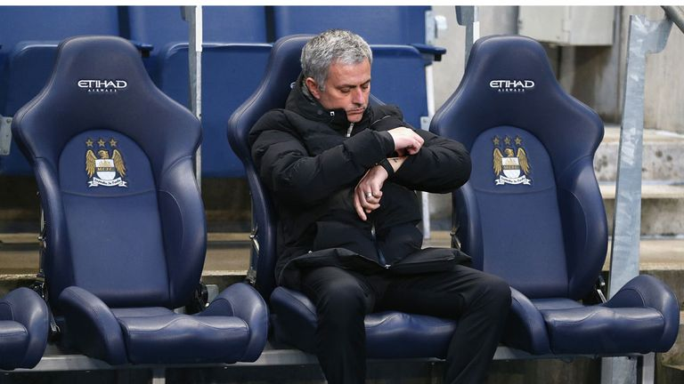 Jose Mourinho: Endured a frustrating evening at the Etihad Stadium