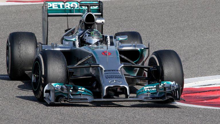 The lead car so far this winter: The Mercedes W05