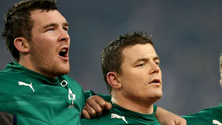 Peter O'Mahony (left) and Brian O'Driscoll have their eyes on the Six Nations title