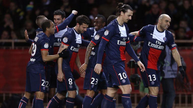 Paris Saint-Germain: Celebrating their goal from Javier Pastore
