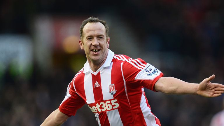 Charlie Adam: Stoke midfielder celebrates scoring against Man Utd