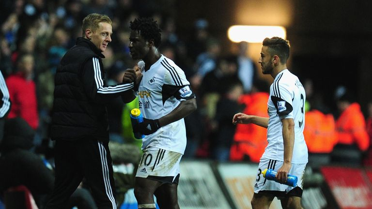 Garry Monk: Celebrates with players