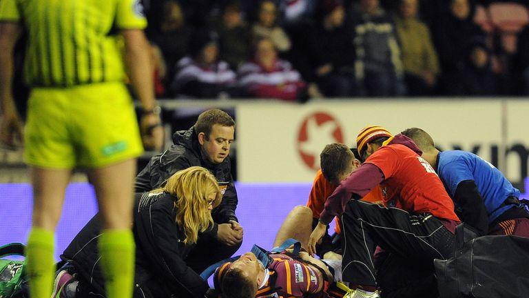 Larne Patrick: Stretchered off in Wigan