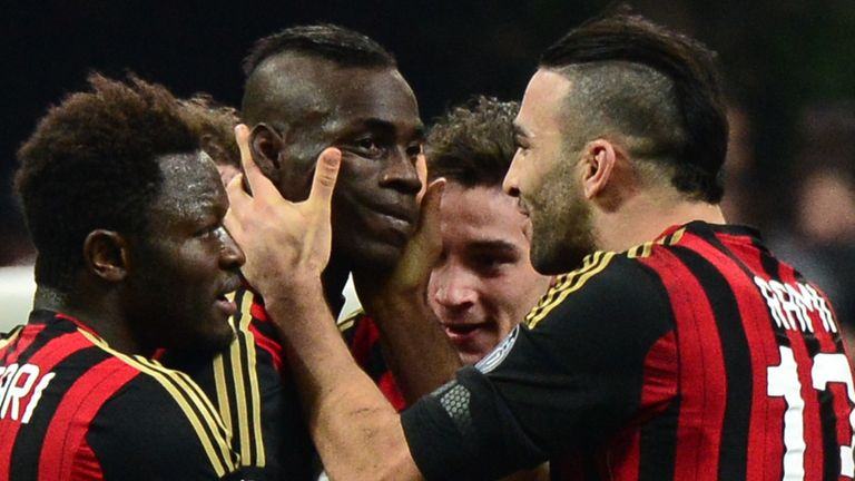 Mario Balotelli: Congratulated on his stunning winner for AC Milan