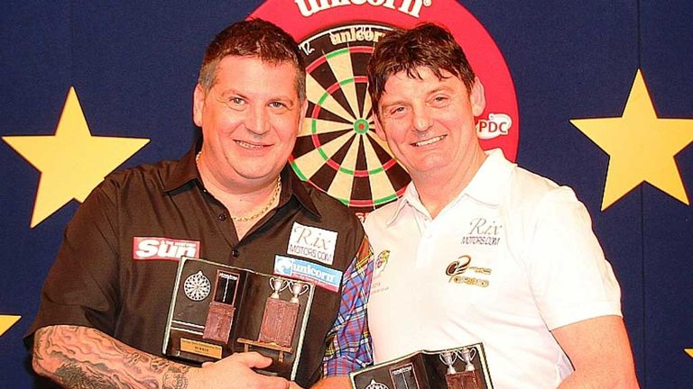 Gary Anderson and Justin Pipe: German Darts Championship finalists