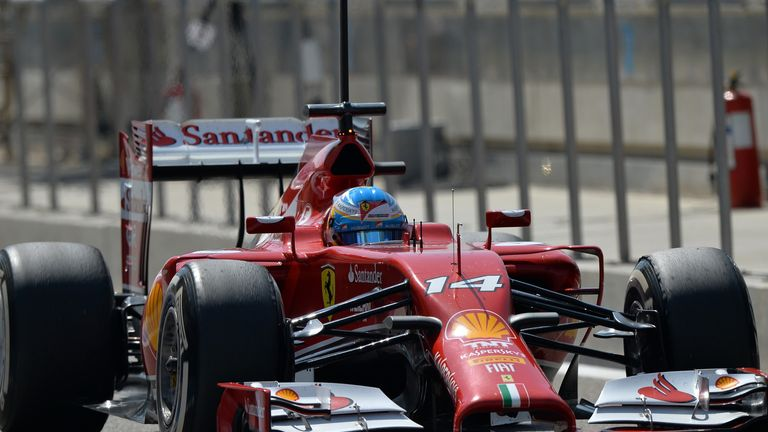 Fernando Alonso in action in Bahrain
