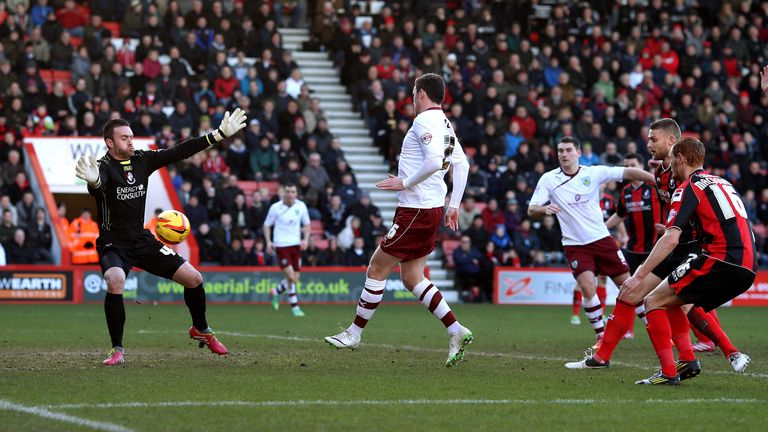 Keith Treacy: Scores Burnley's equaliser