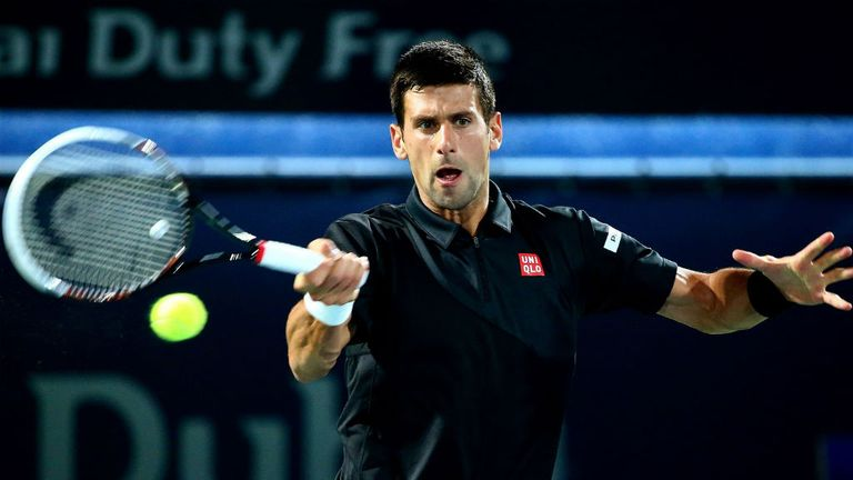 Novak Djokovic: Eased into the quarter-finals in Dubai