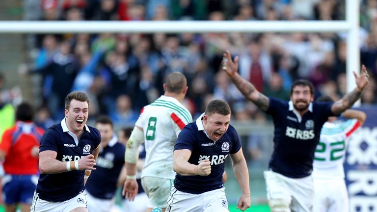 Duncan Weir: Scotland stand-off celebrates his late intervention