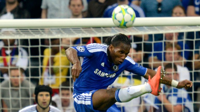 Didier Drogba and Petr Cech in action for Chelsea