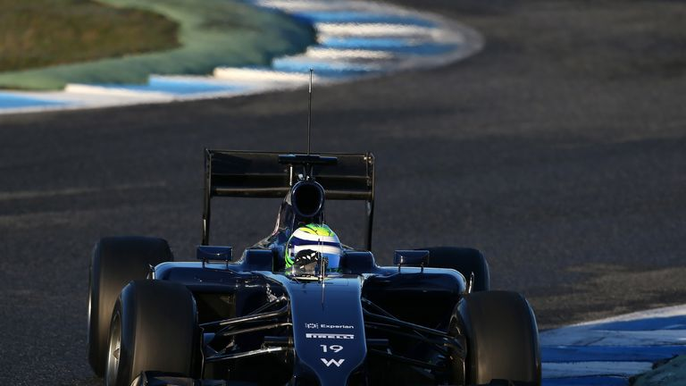 Felipe Massa drives the FW36