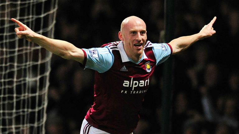 James Collins: Headed West Ham into the lead