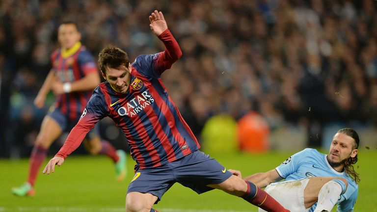 Turning point: Demichelis brings down Messi