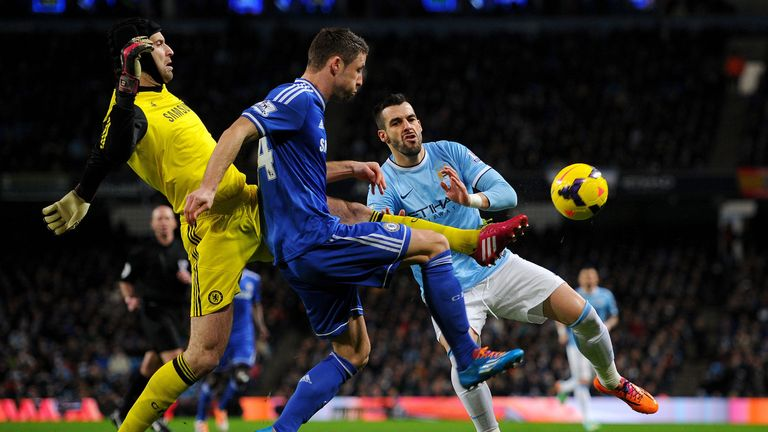 Petr Cech: Helped Chelsea to a narrow victory at the Etihad Stadium