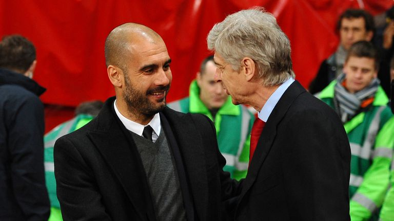 Pep Guardiola and Arsene Wenger: Pictured at 2011 meeting