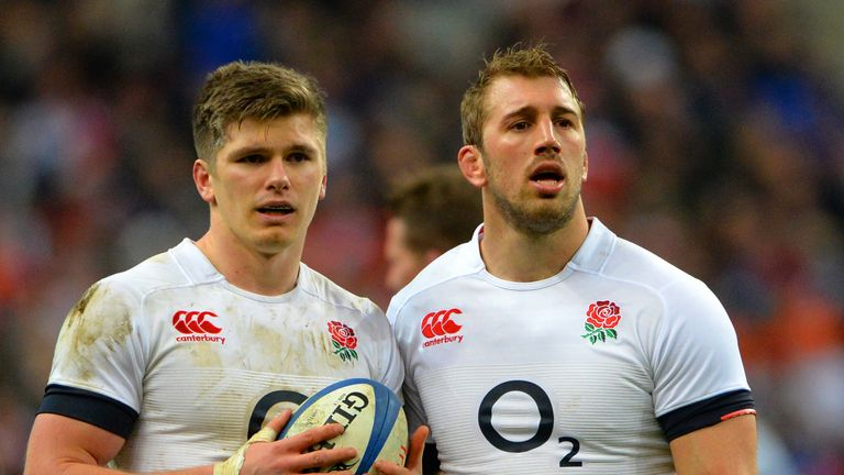 Owen Farrell (L) and Chris Robshaw: Face major challenge on Saturday