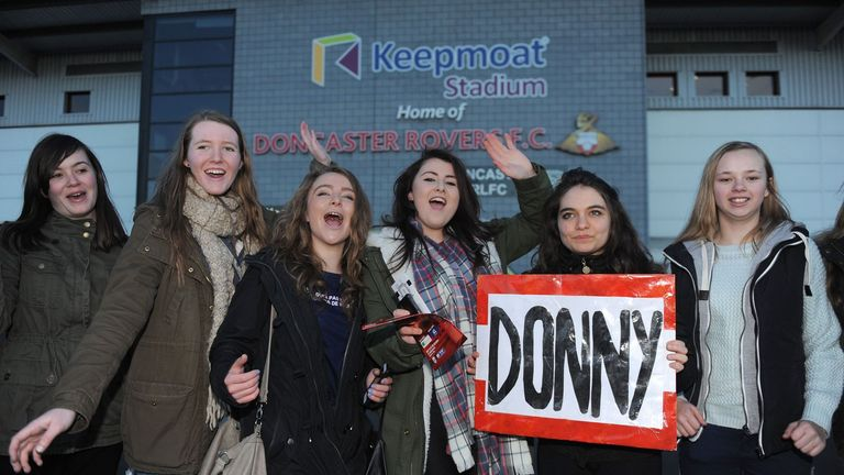 One Direction fans: Flocked to Doncaster to watch Louis Tomlinson