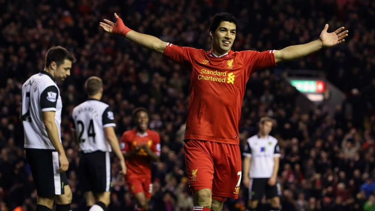 Luis Suarez: Has tormented Norwich with 11 goals in last four appearances