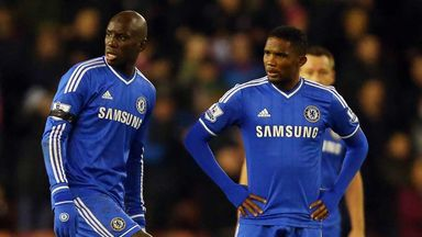Demba Ba and Samuel Eto'o: Shruged off Jose Mourinho's comments