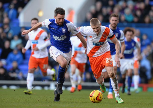 Andy Keogh (r): On target for Blackpool