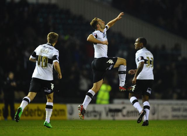 John Eustace: Celebrates his winning goal