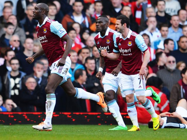 Carlton Cole celebrates after getting on the scoresheet