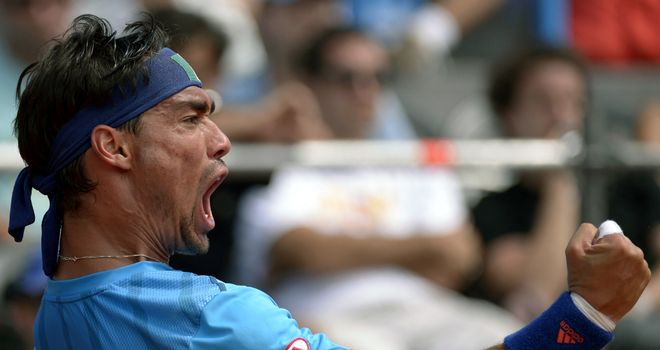 Fabio Fognini: Through to the semi-finals in Chile